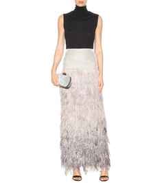 RUNWAY   TOM FORD Velvet and ostrich feather skirt € 4,605