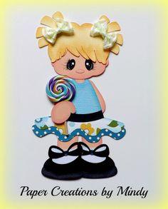 ELITE4U lollipop girl kid summer premade paper piecing scrapbooking page 1