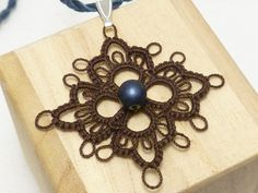 Modern Tatted Lace Pendant MOD by SnappyTatter on Etsy