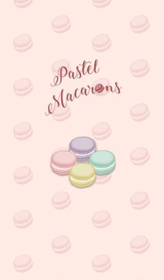 Are you looking for something sweet? If you are, let's try to change your theme into pastel macarons! Macaron Wallpaper, Food Wallpaper, Kawaii Wallpaper, Pastel Wallpaper, Galaxy Wallpaper, Cartoon Wallpaper, Wallpaper Backgrounds, Iphone Wallpaper, Cute Animal Drawings Kawaii