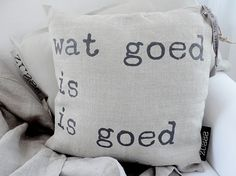 Stoer kussen voor op de bank Sisal, Pillow Slip Covers, Slipcovers, Best Quotes, Throw Pillows, My Love, Blankets, Curtains, Architecture