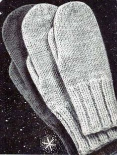 Free Knitting Patterns – Mittens and Gloves – Knitting