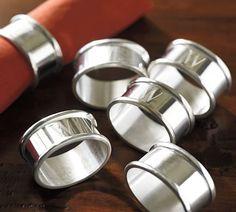 Maxfield Napkin Ring, Set of 4 | Pottery Barn