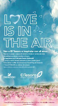 Campaña Love es in the air. El Tesoro Parque Comercial www.bonsaicrea.com