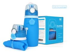 Silicone travel water Bottle packaging