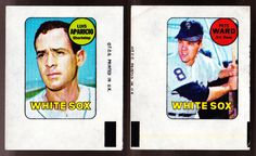 CHICAGO WHITE SOX LOT OF 2 DIFFERENT 1969 TOPPS DECALS LUIS APARICIO PETE WARD