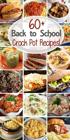 Dinner Crock Pot Recipes ~ Tons of easy recipes perfect for any busy family when you need to get dinner on the table fast! via Dinner Crock Pot Recipes ~ Tons of easy recipes perfect for any busy family when you need to get dinner on the table fast! Crock Pot Food, Crockpot Dishes, Crock Pot Slow Cooker, Slow Cooker Recipes, Cooking Recipes, Healthy Recipes, Crockpot Meals, Freezer Meals, Dinner Crockpot