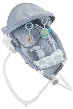 Fisher-Price Premium Rock 'n Play Sleeper w/ Projection - Crescent Bliss, Light Gray Teal White Baby Bouncer Seat, Best Baby Bouncer, Baby Car Seats, Rock And Play, Rock N Play Sleeper, Baby Sense, Baby Rocker, Fisher Price Toys, Square