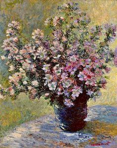 Bouquet de mauves ~ Claude Monet,1881.