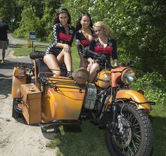 My hubby says he wants to get us a bike like this. I think it's the girls.