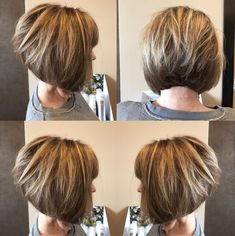 Inverted+Bob+With+Blonde+Highlights