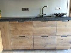 Industrieel houten keuken, Koak Design, greeploos