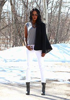 White denim up on the blog - stylemydreams.wordpress.com #whitedenim #denim #jeans #fashion #fashionblogger #whitejeans #style #ootd