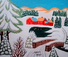Maudie Lewis, Grandma Moses, But Is It Art, Retro Images, Paint And Sip, Country Art, Naive Art, Canadian Artists, Nova Scotia