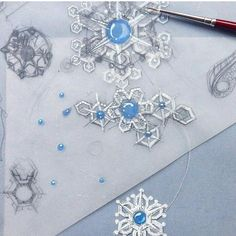 Snowflakes jewelry design illustration