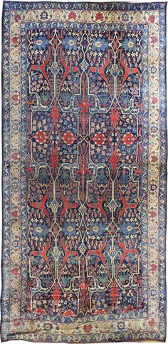 Persian Bidjar rug,  13'9 x 29'0, Circa 1875, Landry and Arcari gallery