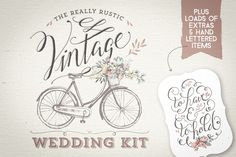 Check out Really Rustic Vintage Wedding Kit by Lisa Glanz on Creative Market