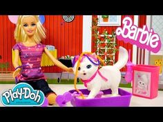 Barbie Potty Trainin' Blissa Pet Cat Play Doh Barbie Dolls Toys Review by Disney Cars Toy Club. This is one cool tutorial!