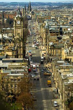 littlewiseowl:  This is Princes Street in Edinburgh, Scotland