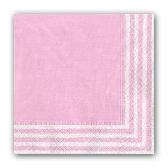 Pink Stripe Cocktail Napkins