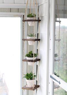 http://www.iheartnaptime.net/diy-vertical-plant-hanger/