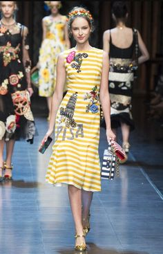 This 2016 spring/summer, the House of Dolce & Gabbana wants us to dream of a cold glass of Limoncello in the Italian Riviera. The flower, stripes, and scenery prints exude richness yet refreshing, natural beauty. This spring season #ITALIAISLOVE