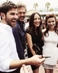 Nick, Monroe, Rosa Lee, and Juliet from Grimm - Cast Picture