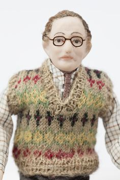 Grandad Hopkinson, a character from Roma Hopkinson's dolls' house