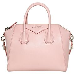 GIVENCHY Small Antigona Grained Leather Bag - Light Pink with Double Top Handles and Shoulder Strap