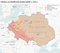 Polska od morza do morza za panowania Jagiellonw ok. XVI wieku