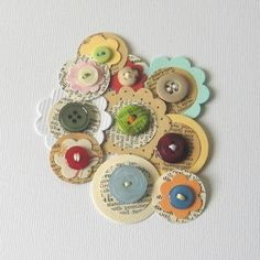 Paper and Button Embellishments