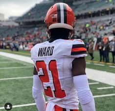 968 Best TAILGATING!! #21 DENZEL WARD!!! & BROWNS!! let's all  free shipping