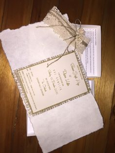 Burlap & Lace theme inside invitation