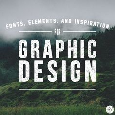 This Board is filled with Fonts, Elements, and Inspiration for Graphic Design.