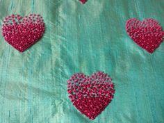 Zardosi Embroidery, Embroidery On Kurtis, Kurti Embroidery Design, Hand Embroidery Videos, Embroidery Stitches Tutorial, Hand Work Embroidery, Flower Embroidery Designs, Simple Embroidery, Ribbon Embroidery