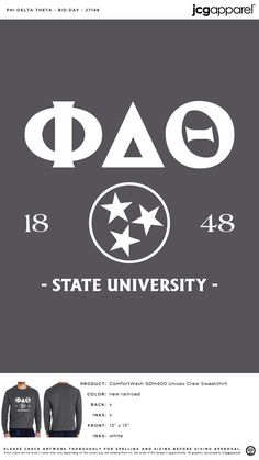 Phi Delta Theta Bid Day Shirt | Fraternity Bid Day Shirt | Greek Bid Day Shirt #phideltatheta #phidelt #Bid #Day #Shirt #classic #design