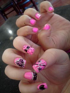 Baby shower nails how sweet doing this but for boys nails me the baby girls nails prinsesfo Gallery
