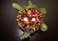 Fun veggie plate, love the colors!