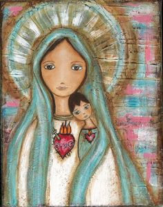 Immaculate Conception with Child Art Print