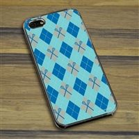 Lacrosse iPhone/Galaxy Case Blue LAX Argyle - This customizable protective case is the perfect accessory for any lacrosse players phone. This great cell phone case fits the iPhone 4, iPhone 4S, iPhone 5, Samsung Galaxy S3, and Samsung Galaxy S4..