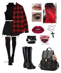 """Untitled #56"" by chloe-legrand-lagnier on Polyvore featuring ASOS, Ksubi, Yves Saint Laurent, Huda Beauty and Tripp"