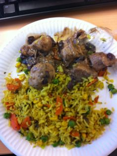 rice and meat