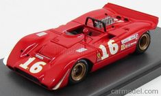 MG-MODEL 43095 Scale 1/43  FERRARI F612 SPIDER ch.0866/68 N 16 CAN AM MID OHIO 1969 C.AMON RED