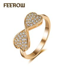 Rosette Shape Jewelry Cubic Zircon Micro Inlay Girl/Women Rings With Gold Plated For Gift //Price: $9.95 & FREE Shipping // #fashion #fashionable #style #styles #musthave #accessories