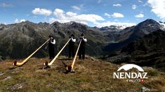 Alphorn players in Switzerland.