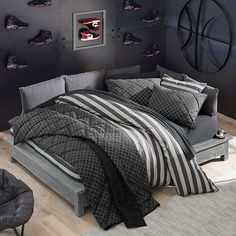 Get inspiration with Pottery Barn Teen's teen bedroom set collections. Find bedroom furniture that matches your style whether it be boho, classic or contemporary. Boys Bedroom Furniture, Boys Bedroom Decor, Room Ideas Bedroom, Gray Bedroom, Boy Bedroom Designs, Bedroom Suites, Kid Furniture, Bedroom Loft, Furniture Online