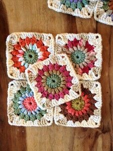 """Ravelry: Sunburst Granny Squares. You Can Make 6"""" With The Pattern. These Are…"""