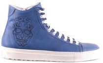 DSQUARED2 Men's Blue Leather Hi Top Sneakers.