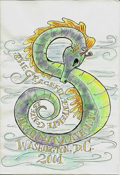 Graceful Envelope_Seahorse (not sent) by SpedBug, via Flickr   Mail Art #mailart #snailmail #happymail