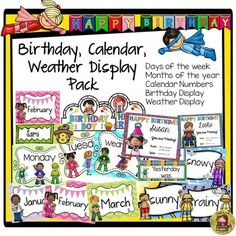 Keep track of days, months, birthdays, and the weather with this handy resource.  https://www.teacherspayteachers.com/Product/BACK-TO-SCHOOL-CALENDAR-BIRTHDAY-WEATHER-DISPLAY-PACK-CLASS-DECOR-1945105